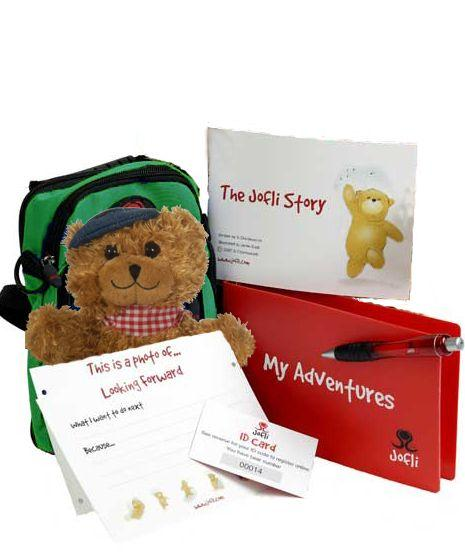 Small 20cm Jofli Bear with Backpack