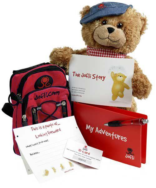 Big 30cm Jofli Bear with Backpack