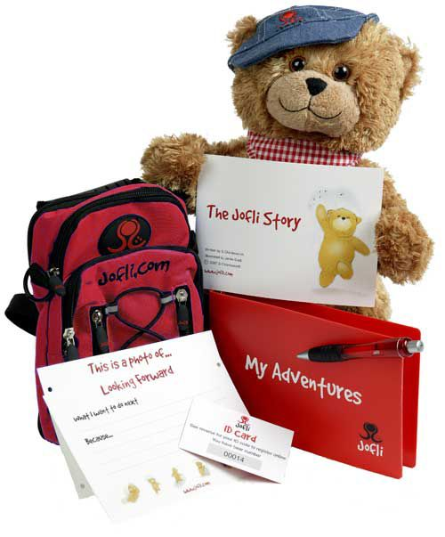 Big 30cm Jofli Bear with Backpack and Diary