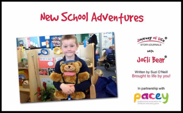 Jofli Bear new school story book