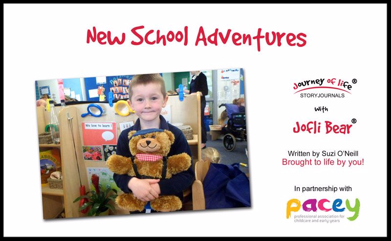 Jofli Bear new school story book