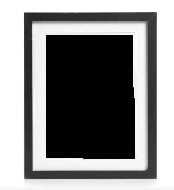 Black frame + poem